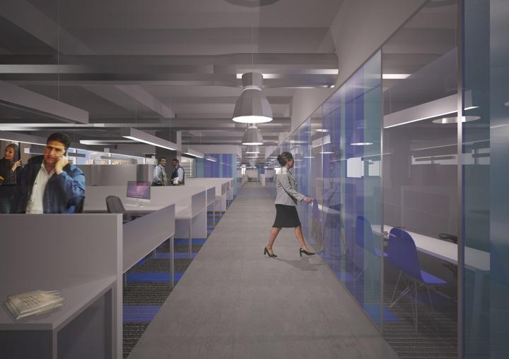 Concurso privado de diseño de interiores para al rehabilitación de las oficinas principales de PepsiCo. Caracas, Venezuela.  Colaboración con ODA + MICRA. 2do lugar  Mayo, 2013
